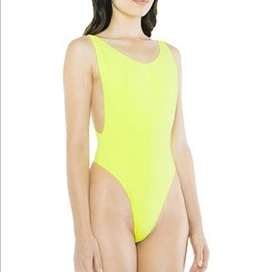 Lime green American apparel Bodysuit